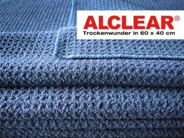 ALCLEAR Microfasertuch Trockenwunder - perfekt für Auto und Motorrad - 60x40 cm dunkelblau - 2