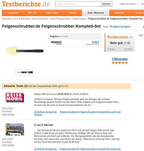 Der Original-Felgenschrubber® Felgenbürste Felgenreiniger - 9