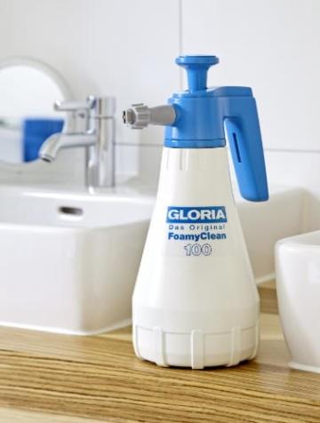 Gloria Drucksprüher Schaumsprüher FoamyClean 100 für KFZ,Fahrrad,Bad,Haushalt,Garten,Werkstatt, weiß - 5