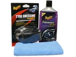 Meguiar`s Endurance High Gloss Set inkl.Tire Dressing Pad und Microfasertuch - 1