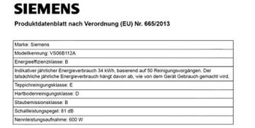Siemens VS06B112A Bodenstaubsauger synchropower EEK B (mit Beutel, highPower-Motor, PowerProtect System, Hartbodendüse), 700 W, schwarz - 3