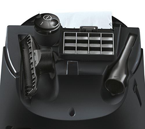 Siemens VS06B112A Bodenstaubsauger synchropower EEK B (mit Beutel, highPower-Motor, PowerProtect System, Hartbodendüse), 700 W, schwarz - 7