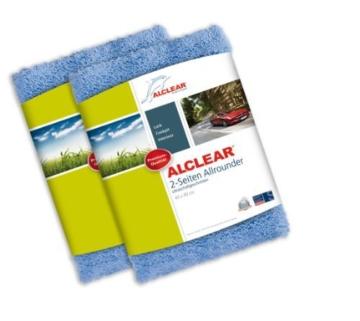 2er Set ALCLEAR Poliertücher 2-Seiten-Allrounder Premium ohne Hologramme, f. Auto Yachting & Poliermaschine, 40x40 cm blau - 1