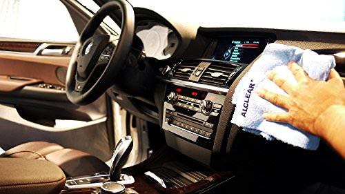 2er Set ALCLEAR Poliertücher 2-Seiten-Allrounder Premium ohne Hologramme, f. Auto Yachting & Poliermaschine, 40x40 cm blau - 6
