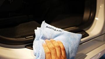 2er Set ALCLEAR Poliertücher 2-Seiten-Allrounder Premium ohne Hologramme, f. Auto Yachting & Poliermaschine, 40x40 cm blau - 7