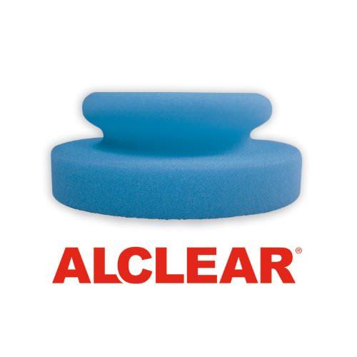 ALCLEAR 5713050M 2-er Set Profi Handpolierschwamm 130 x 50 mm mit umlaufender Griffleiste für Wachse, Polituren, Lackreiniger, blau - 2