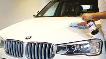 ALCLEAR 71100SV Schnellversiegelung 1 Liter inklusive ALCLEAR Poliertuch 2-Seiten Allrounder 40 x 40 cm für Auto, Motorrad, Fahrrad - 2
