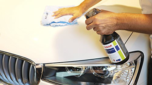 ALCLEAR 71100SV Schnellversiegelung 1 Liter inklusive ALCLEAR Poliertuch 2-Seiten Allrounder 40 x 40 cm für Auto, Motorrad, Fahrrad - 3
