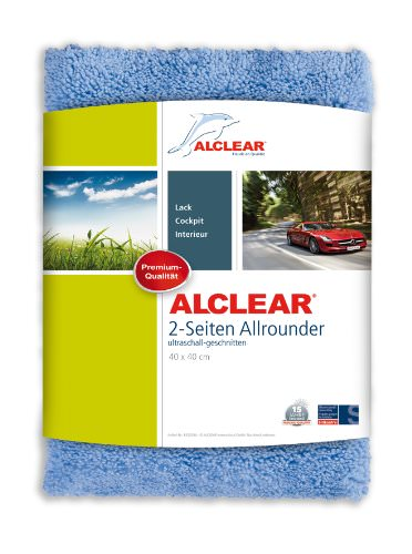 ALCLEAR 8201000 Profi Autopflegeset 4teilig bestehend aus Trockenwunder, 2-Seiten Allrounder, Felgenhandschuh sowie Microcar Autoschwamm - 2