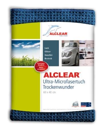 ALCLEAR 8201000 Profi Autopflegeset 4teilig bestehend aus Trockenwunder, 2-Seiten Allrounder, Felgenhandschuh sowie Microcar Autoschwamm - 3