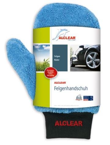 ALCLEAR 8201000 Profi Autopflegeset 4teilig bestehend aus Trockenwunder, 2-Seiten Allrounder, Felgenhandschuh sowie Microcar Autoschwamm - 4