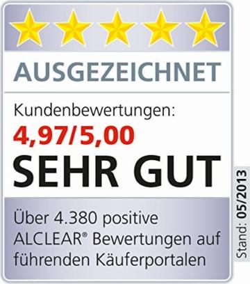 ALCLEAR 8201000 Profi Autopflegeset 4teilig bestehend aus Trockenwunder, 2-Seiten Allrounder, Felgenhandschuh sowie Microcar Autoschwamm - 7