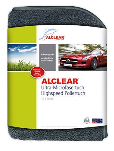 ALCLEAR 822203H Ultra-Microfasertuch Highspeed Poliertuch 40 x 40 cm grau - 1