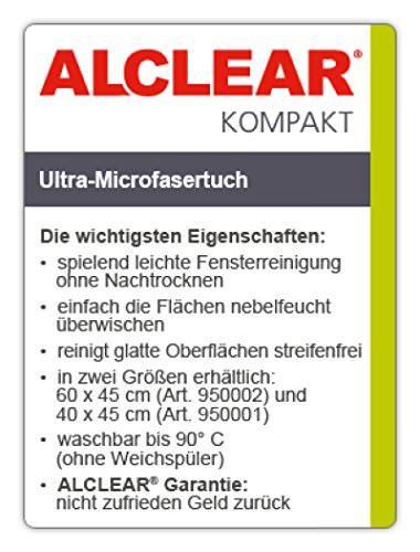 """ALCLEAR 950002 Ultra-Microfaser Fenstertuch Scheibentuch 60x45 cm weiß (bekannt als """"Das Wundertuch"""") - 2"""