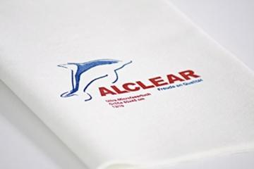 ALCLEAR 950002 Ultra-Microfaser Fenstertuch Scheibentuch 60x45 cm weiß (bekannt als