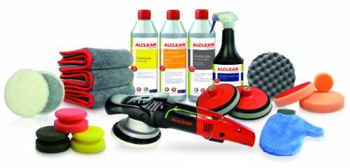 ALCLEAR 950013WH Premium Waschhandschuh, weiß mit schwarzem Bündchen, extra flauschig - 5