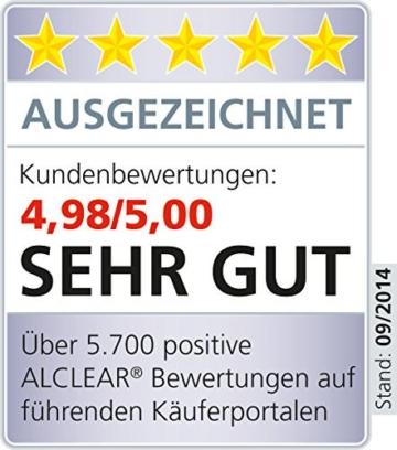 ALCLEAR 950013WH Premium Waschhandschuh, weiß mit schwarzem Bündchen, extra flauschig - 6