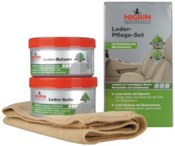 Nigrin 73170 Performance Leder-Pflege-Set Seife mit Balsam - 1