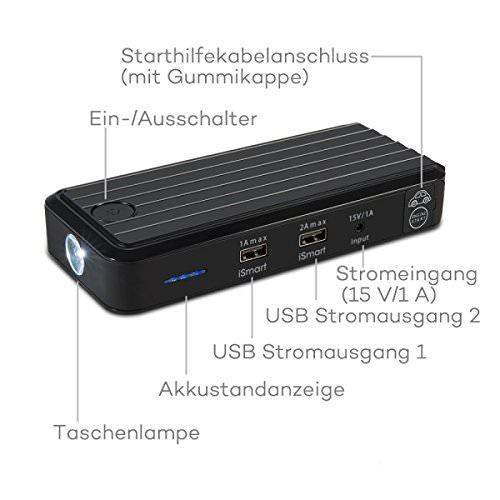 RAVPower Auto Starthilfe 500 A Spitzenstrom 12000mAh Batterie Ladegerät Tragbare USB Ladegerät Externer Akku - 7