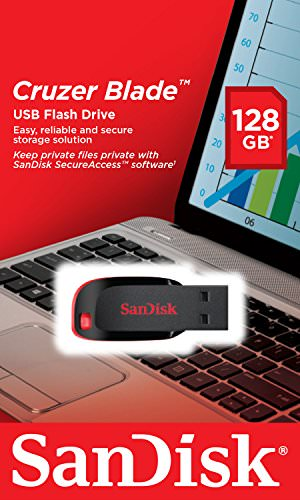 SanDisk Cruzer Blade USB-Flash-Laufwerk 128GB, USB 2.0 - 5