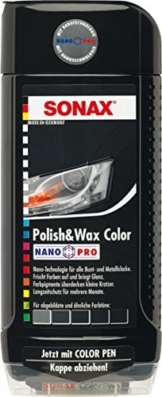 SONAX 296100 Polish & Wax Color NanoPro schwarz, 500 ml - 1