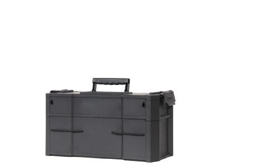 Stanley Rollende Werkstatt, modular aufgebaut mit drei entnehmbaren Werkzeugboxen und robusten 7 Zoll Schwerlast-Rädern, 1-79-206 - 10