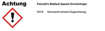 Spezial Grundreiniger für Mattlack am Auto, Motorrad, Fahrrad,... von Petzoldts -