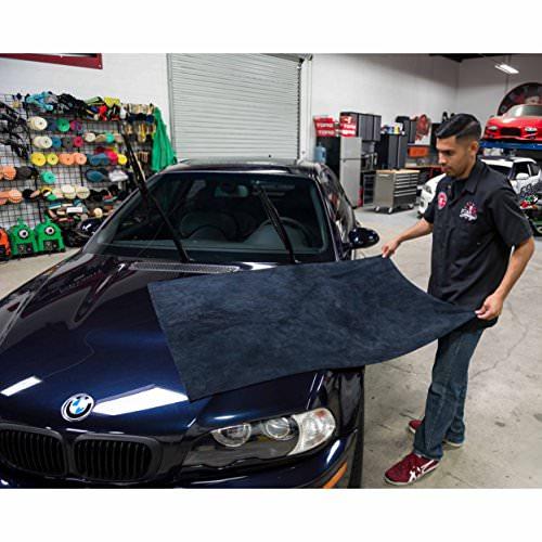 Chemical Guys Elegant Edgeless Microfiber Towel Black Poliertuch kratzfrei (130x76cm) -