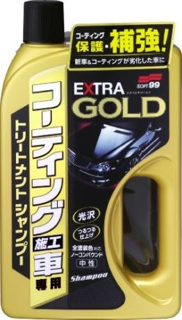 Soft99 4287 Treatment Shampoo fuer besichtete Autos, Extra Gold, 750 ml -