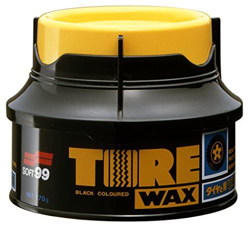 Soft99 Tire Wax Reifenwax inkl Auftragsschwamm 170g -