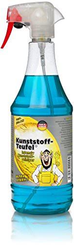 TUGA Kunststoff-Teufel Intensiv Kunststoff Reiniger, 1000 ml Sprühflasche -