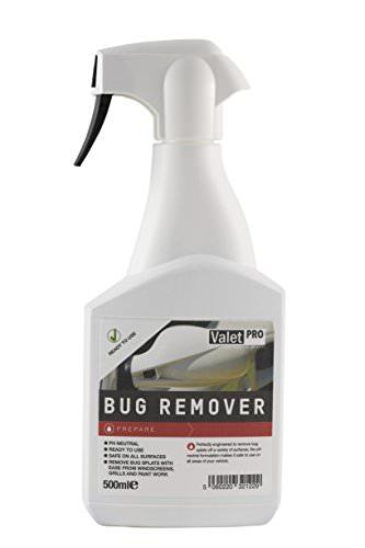 ValetPRO Insektenentferner - Bug Remover 0,5 Liter - pH Neutral, Gebrauchsfertig, sicher auf allen Oberflächen, Leichtes Entfernen von Insekten auf Windschutzscheibe Kühlergrill und Lack -