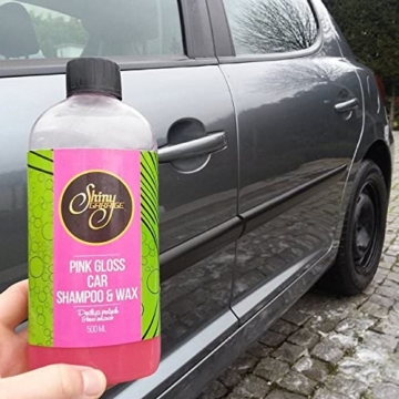 Glänzend Garage pink gloss Auto Shampoo & Wax–500ml -