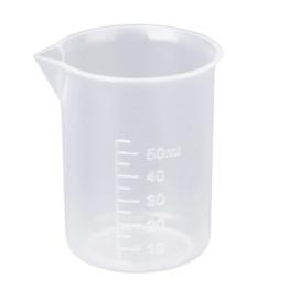 50 ml Transparente Kunststoff Labor Messbecher Werkzeug -