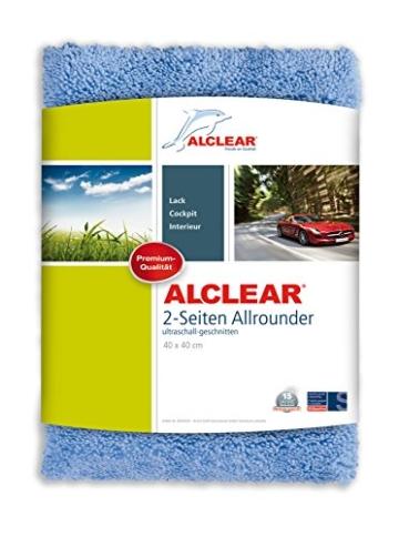 ALCLEAR 820203U Auto Poliertuch 2-Seiten Allrounder 40 x 40 cm blau -