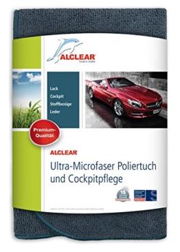 ALCLEAR A257343 Allrounder Poliertuch und Cockpitpflege, 40 x 40 cm, anthrazit -