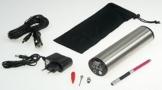 ChiliTec 21329 Hochleistungs Luftpumpe mit LiIon Akku Display, Druckeinstellung, KFZ-Adapter -