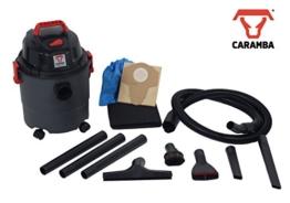 CARAMBA AUTO 5.0 Nass Trocken Sauger - Staubsauger mit Blasfunktion mit 5 Düsen - perfekt abgestimmt für die Auto Innen Reinigung, Polster Sitze Fußmatten Kofferraum sowie zum trocknen und ausblasen - 1