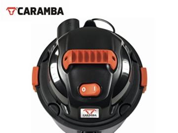 CARAMBA AUTO 5.0 Nass Trocken Sauger - Staubsauger mit Blasfunktion mit 5 Düsen - perfekt abgestimmt für die Auto Innen Reinigung, Polster Sitze Fußmatten Kofferraum sowie zum trocknen und ausblasen - 5