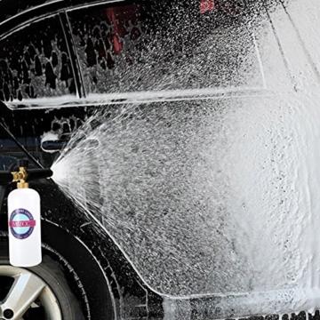 Schaumdüse MATCC 1L Schaumlanze Messing-Düse Schneeschaum Schaumpistole Hochdruckreiniger Snow Foam Autowäsche Gun Für Kärcher K2/K3/K4/K5/K6/K7 - 6