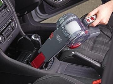 Black+Decker Autosauger Dustbuster Pivot, Bürstenaufsatz, Fugendüse, flexiblem Saugschlauch, Aufbewahrungsnetz, PV1200AV-XJ - 3
