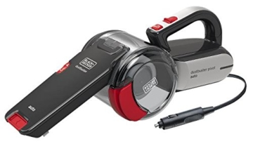 Black+Decker Autosauger Dustbuster Pivot, Bürstenaufsatz, Fugendüse, flexiblem Saugschlauch, Aufbewahrungsnetz, PV1200AV-XJ - 1