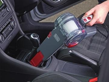 Black+Decker Autosauger Dustbuster Pivot, Bürstenaufsatz, Fugendüse, flexiblem Saugschlauch, Aufbewahrungsnetz, PV1200AV-XJ - 5
