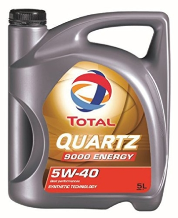 Total Motorenöl 5W-40 Quartz 9000 Energy, 5 Liter - 1