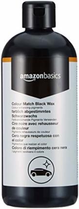 Amazon Basics - Wachs, für Autolacke mit der gleichen Farbe, Schwarz, 500ml, Flasche mit Klappdeckel - 1
