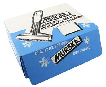 A055 Eiskratzer Murska Eisschaber Schwarz-Blau 370mm Messingklinge Messingschaber lang groß Original aus Finnland Eis Schaber Kratzer TOP Qualität 90mm für Bus VAN Transporter SUV (Farbe zufällig) - 7
