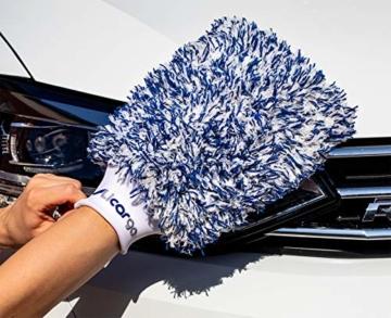 Licargo Premium Autowaschhandschuh aus saugfähigster Mikrofaser - Makelloser Auto- und Felgenhandschuh zur Autoreinigung und Autoaufbereitung - Tausende begeisterte Kunden (Blau) - 5