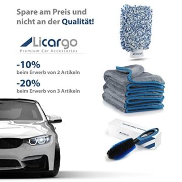 Licargo Premium Autowaschhandschuh aus saugfähigster Mikrofaser - Makelloser Auto- und Felgenhandschuh zur Autoreinigung und Autoaufbereitung - Tausende begeisterte Kunden (Blau) - 7