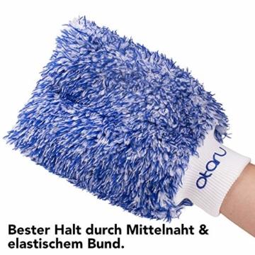 OTARU Hochwertiger Waschhandschuh - Auto & Motorrad - Extragroße Reinigungsfläche (Innovative Fasertechnologie) Besondere Saugstärke - 2