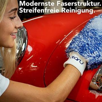 OTARU Hochwertiger Waschhandschuh - Auto & Motorrad - Extragroße Reinigungsfläche (Innovative Fasertechnologie) Besondere Saugstärke - 3